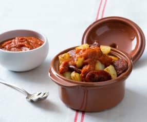 Patatas Bravas with Chorizo