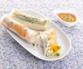 Rouleaux de printemps aux légumes et curry