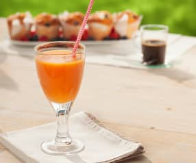 Jus d'orange, papaye et clou de girofle