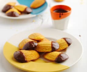 Madalenas de cenoura e chocolate