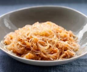 Kelp Noodles in Marinara Sauce