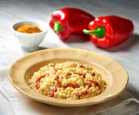 Risotto ai peperoni e curry