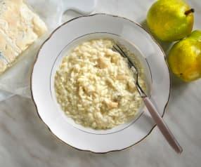 Rizoto s hruškami a gorgonzolou