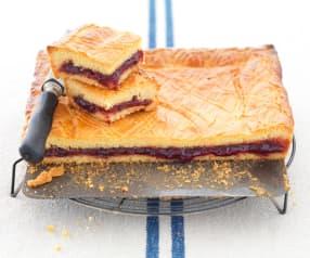 Gâteau basque à la confiture de cerises