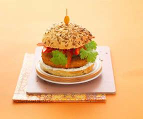 Indische kippenburger