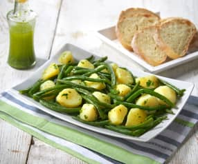 Patate e fagiolini al pesto