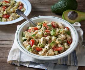 Quinoa salad with chicken and avocado