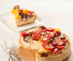 Cheesecake salado con tomates cherry
