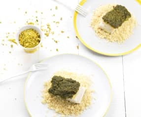 Cod with Pistachio and Couscous