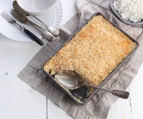 Ovenschotel met kip en spek