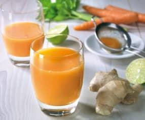 Frullato rinfrescante di carote e zenzero