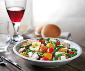 Insalatona di fagiolini, tonno e uova