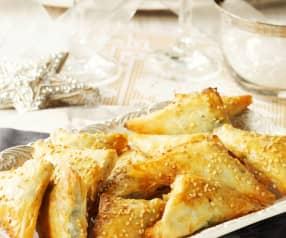 Knusprige Spinattaschen mit Roquefort