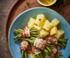 Fazolové lusky s bramborami a tymiánovým máslem