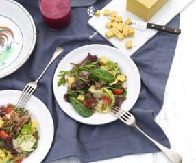 Spelt Salad with Burmese Tofu