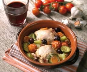 Pollo, pancetta e olive