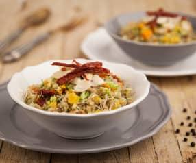 Naklíčená quinoa s RAW zeleninou