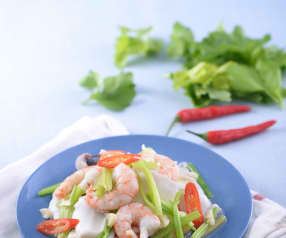 Prawns and Cuttlefish with Celery