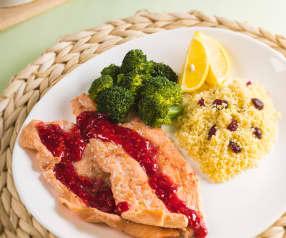 Cous cous con salmón y verduras