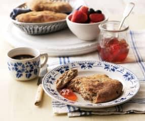 Banaan en rogge ontbijt flatbreads