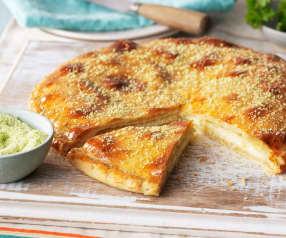 Pan plano relleno de mozzarella