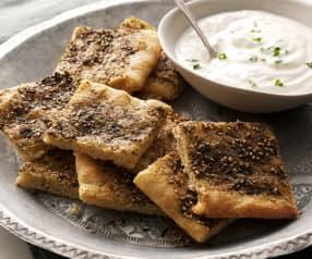 Pão libanês com especiarias