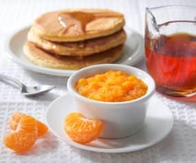Composta di mandarini con sciroppo d'acero (a ridotto contenuto di zuccheri)