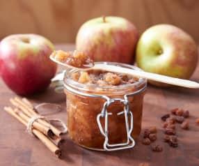 Composta di mele e uvetta alla cannella (senza zuccheri aggiunti)