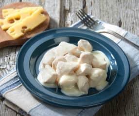 Bocconcini di pollo al latte e formaggio