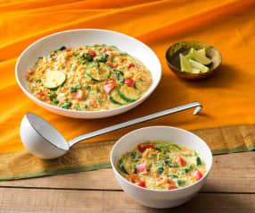 Zucchini, lentil and coconut stew