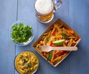 Pollo al curry alla cingalese (Koththu roti)