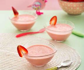 Postre de fresas con yogur