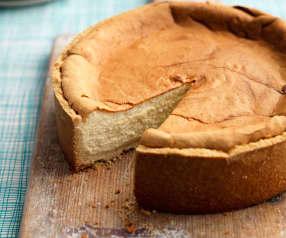 Cheesecake de vainilla horneado
