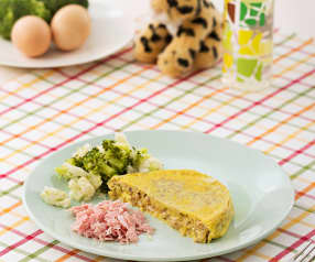 Omlet z pieczarkami i serem