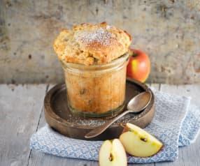 Apfelkuchen im Glas