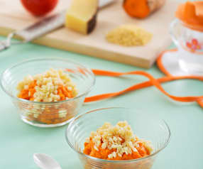 Bataty z pomidorami i makaronem