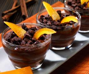 Čokoládový mousse s vůní pomeranče a skořice