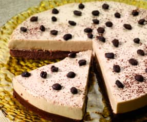 Cheesecake de chocolate y café