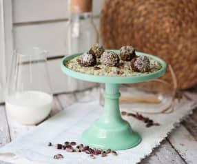 Praline di frutta secca al cioccolato, cocco e pistacchio (di Mirko Ronzoni)