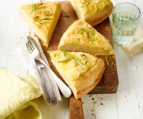 Focaccia s bramborami a rozmarýnem