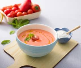 Sopa griega de tomate y yogur