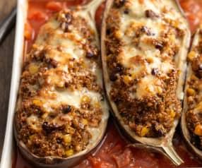 Melanzane ripiene di quinoa