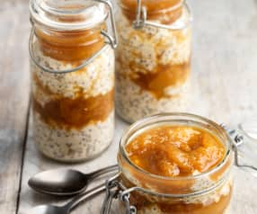 Overnight Oats with Peach Compote