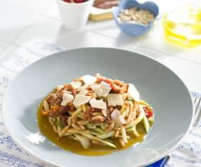 Espaguetis de calabacín picantes