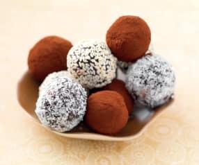 Truffes au cacao et fruits secs sans sucre ajouté