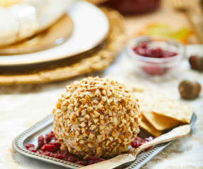 Cranberry-Pecan-Frischkäsebällchen