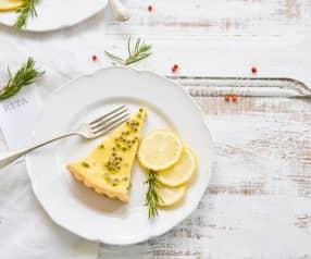 Tarte de limão e maracujá