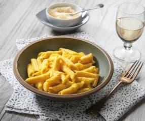 Penne in crema di Parmigiano e zafferano