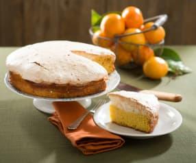 Bizcocho húmedo de mandarina y coco