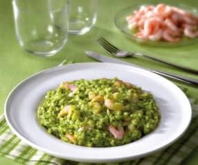 Risotto spinaci e gamberetti